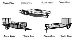 (3) Plans For Three Trailers. 8x18, 7x14 and 5x10 Utility Trailer Plans. #1Plans #NorthwestOutdoors