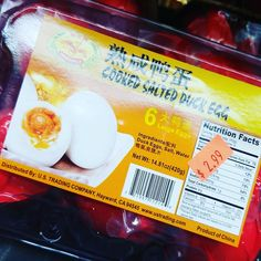 Cooked salted duck eggs. ONLY 2.99 FOR 6. I'm stacking for a rainy day. #salted #duck #eggs #rainydays #bemaifoodie