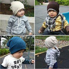 Fashion Cute boy girl Trendy Baby Toddler child Hat Knit Beanie Warm Winter cap #FindItFollowIt