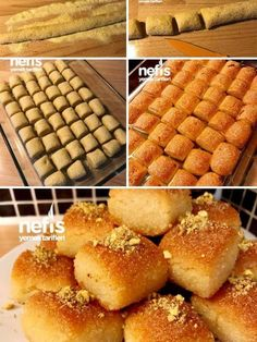 Semitic Semolina Dessert (Full Size) (with video) - Yummy Recipes, Yummy Recipes, Dessert Recipes, Cooking Recipes, Yummy Food, Breakfast Recipes, Desserts, Turkish Snacks, Turkish Sweets, Honey Dessert