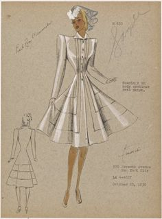 Seamings on body continue into skirt - ID: 1949744 - NYPL Digital Gallery