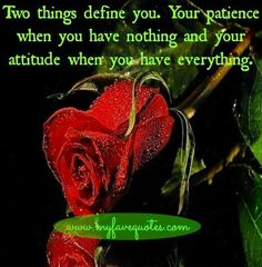 Two things that define you quote via www.MyFaveQuotes.com