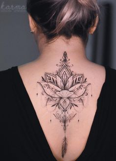 Beautiful looking and with a rich symbolism behind, lotus tattoos are absolutely gorgeous. Here you& find everything you need to know about a lotus tattoo and some awesome imagery for inspiration. Up Tattoos, Tattoo You, Body Art Tattoos, Sleeve Tattoos, Cool Tattoos, Tatoos, Hindu Tattoos, Symbol Tattoos, Back Tattoo Women Upper
