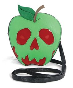 Sleepyville Critters Green Poisoned Apple Crossbody Bag | zulily