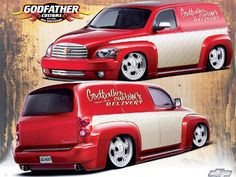 0804tr 02 Z+2008 Chevy Hhr Panel+godfather Customs Kenwood Car, Chevy Hhr, Truck Paint, Panel Truck, Pt Cruiser, Go Red, Paint Schemes, Station Wagon, General Motors
