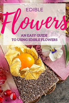 If you've ever considered adding flowers to your cooking, this article is a must read! Good Food, Yummy Food, Edible Flowers, Amazing Recipes, Allrecipes, Gardening, Bright, Colour, Cooking