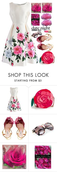 """""""to night"""" by licethfashion ❤ liked on Polyvore featuring Chicwish, Kate Spade, Miu Miu, Ready2hangart, polyvoreeditorial and licethfashion"""