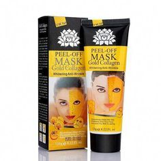 All Natrual Peel Off Facial Cleansing Mask - Removes Dead Skin, Black Head, And Dirt Build Up - Makes You Look Younger Than Ever (Gold Collagen) #CucumberFaceMask Remove Blackheads From Nose, Blackheads On Nose, Blackhead Mask, Blackhead Remover, Tumeric Masks, Charcoal Peel Off Mask, Cucumber Face Mask, Homemade Acne Treatment, Cleansing Mask