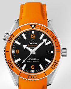 OMEGA Watches: Seamaster Planet Ocean 600 M Omega Co-Axial 42 mm - Steel on rubber strap - 232.32.42.21.01.001