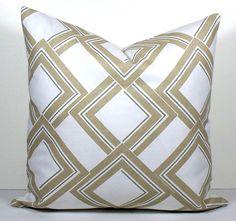 Designer Duralee pillow cover Modern diamond lattice by WilmaLong, $42.00