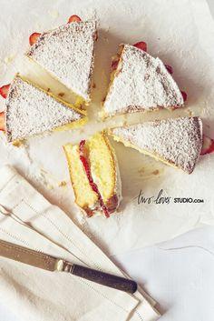 ... left over spOnge cake ...