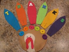 Button Turkey; Color Recognition and Fine Motor Skills