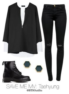 A fashion look from May 2016 featuring Joseph t-shirts, J Brand jeans and Dr. Browse and shop related looks. Tumblr Outfits, Mode Outfits, Casual Outfits, Girl Outfits, Grunge Outfits, Outing Outfit, My Outfit, Kpop Fashion Outfits, Womens Fashion