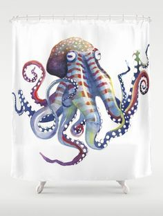 Octopus Shower Curtain by samnagel
