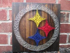 Pittsburgh Steelers String Art, Wall Hanging, Wall Decor via Etsy