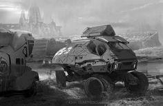 tank buggy, ioan dumitrescu on ArtStation at https://www.artstation.com/artwork/tank-buggy
