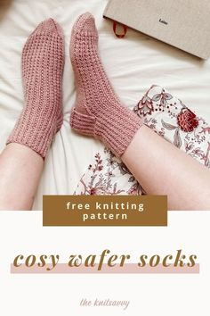 Make your own cosy home socks using this free knitting pattern. It's an easy sock DIY that's super quick to make, using Aran weight yarn and double pointed or circular knitting needles. Wool socks are the perfect accessory for autumn and winter and make a lovely gift! Knitting is also stress reducing craft so why not pick up your needles and give it a go? Easy Knitting Patterns, Knitting Projects, Crochet Projects, Wool Socks, Knitting Socks, Free Knitting, Aran Weight Yarn, Quick Crafts, Circular Knitting Needles