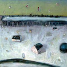 "Saatchi Online Artist Carl Jennings; Painting, ""Field"" #art"