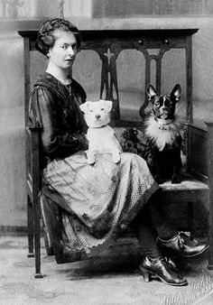 Vintage dogs: Woman with a French bulldog. Copyright Libby Hall Collection. From The Guardian