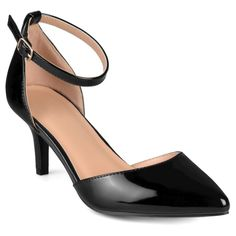 Women's Journee Collection Ike Patent Ankle Strap Pumps -