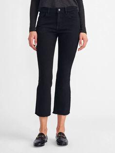 Bridget Crop - Henderson – A Style Studio Rock Tees, Denim Shop, Vintage Colors, Perfect Fit, Model, Cotton, Pants, How To Wear, Shopping