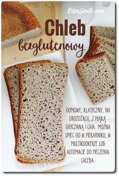 Chleb bezglutenowy przepis    Zapraszam dzisiaj na kolejny chleb bezglutenowy, który można zrobić w domu. Chleb bezglutenowy piekę często ponieważ te, które kupić można w sklepach. Bardzo często zmieniam receptury, ponieważ po pierwsze lubię różnorodność, po drugie