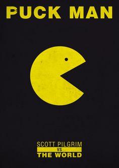 """Scott Pilgrim vs the World"" by Thomas Girault.  http://minimalmovieposters.tumblr.com/tagged/Scott-Pilgrim"