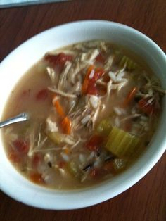 What to do with that leftover turkey frame? Turkey Soup!