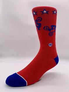 British Flag Love Crew Sock Cotton Cute Solid Socks Womens
