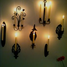 brillant! sconces spray painted black.