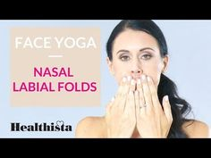 How to reduce nasal labial folds in 3 minute face yoga sequence Massage Facial, Facial Yoga, Danielle Collins Face Yoga, Face Yoga Exercises, Stretches, Face Yoga Method, Face Care, Skin Care, Natural Face Lift