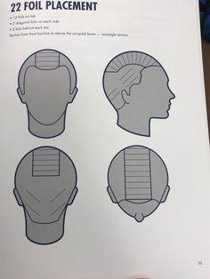 Hair Cutting Techniques, Hair Color Techniques, Hair Cut Guide, Hair Color Placement, Redken Hair Color, Hair Foils, Brassy Hair, Redken Hair Products, Foil Highlights