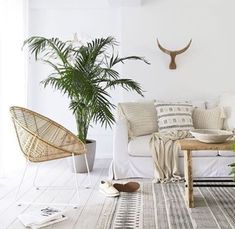 We cannot get enough of our Masekela Oversized Loungers. These beauties are made from water hyacinth which is an aquatic plant, highly… Interior Stylist, Interior Design, New Home Wishes, St Barts, Cushions, Pillows, Love Home, House In The Woods, White Wood