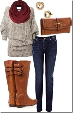 Perfect fall outfit want the sweater. #fallfashion