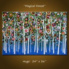 """O_O Love it!!! """"Magical Forest"""" by Amy Giacomelli Etsy.com $220"""