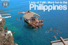 Cliff Diving at Ariels Point in Boracay! - When In Manila Philippines Tourism, Philippines Culture, Around The World In 80 Days, Places Around The World, Beautiful Islands, Beautiful Places, Stuff To Do, Things To Do, Cliff Diving