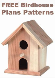 This would be great for Build & Paint! - - - DIY Wood Working Projects: FREE Birdhouse Plans Patterns