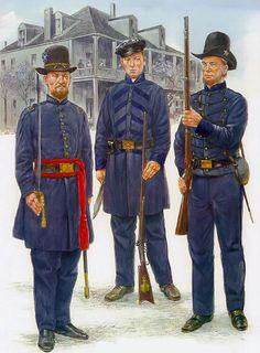 """Texas Volunteers (full dress), 1861"" • Lt, Star Rifles - Co D, 1st Texas Infantry  • Texas Invincibles - Co H, 7th Texas Infantry  • Private, Star Rifles - Co D, 1st Texas Infantry"