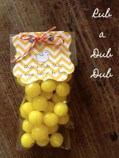 Baby Shower Favor - Rub a Dub Dub