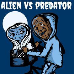 Alien vs Predator #ozzywrongstuff #illustration #billcosby #pillcosby
