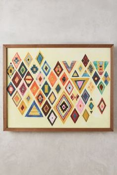 DIY: Triangles and Diamonds from various scrapbook papers. Mind's Eye Wall Art - anthropologie.com