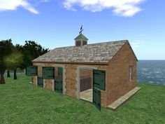 Small and perfect horse stable