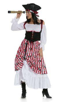 Schnittmuster für ein Piratenbraut-Kostüm via Makerist.de