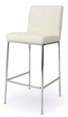 Emilia Barstool in Chrome (30 in.) by Pastel. $269.00. Seat and back upholstered in PU ivory. Warranty: One year. 30 in.. Made from steel and chrome. Contemporary style. Contemporary style. Seat and back upholstered in PU ivory . Warranty: One year. Made from steel and chrome. Assembly required. Seat height: 26 in.. Seat height: 30 in.. 26 in. overall: 20.75 in. W x 17.75 in. D x 36.5 in. H. 30 in. overall: 20.75 in. W x 17.75 in. D x 40.5 in. H The contemporary Pastel Furniture...