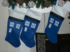 TARDIS stockings-- spatially efficient: they're bigger on the inside.