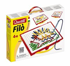 Quercetti Filo Play Set  A Novel Lacing Tool with 18 Pattern Templates to Create Art with String for Ages 4 and Up Made in Italy >>> You can find out more details at the link of the image. Note:It is Affiliate Link to Amazon.