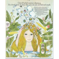 Clairol Herbal Essence Shampoo by twitchery Nostalgia, Herbal Essences, Scented Oils, Vintage Artwork, Thats The Way, World Best Photos, Vintage Advertisements, Vintage Ads, Down Hairstyles