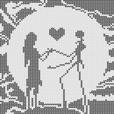 Jack and Sally cross stitch pattern More More #crossstitchpatterns