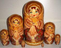 Gorgeous NESTING DOLL STACKING DOLLS 7 UKRAINIAN