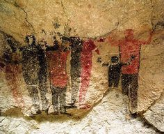 Bradshaw Foundation on Twitter: : La Palma, one of the richer rock art galleries left by the painters of Baja. Located in the Sierra de San Francisco, in a lower better-sheltered part of La Palma is a remarkably integrated group of monos knows as 'The Family of Man'  #Archaeology #Mexico #bajacalifornia